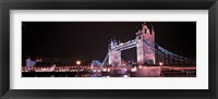 Framed Tower Bridge London England at Night