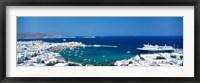 Framed Mykonos Island Greece