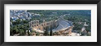 Framed Ode'on tu Herodu Att'ku the Acropolis Athens Greece