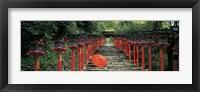 Framed Kibune Shrine Kyoto Japan