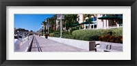 Framed Buildings along a walkway, Garrison Channel, Tampa, Florida, USA