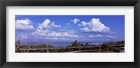 Framed Fence on the beach, Tampa Bay, Gulf Of Mexico, Anna Maria Island, Manatee County, Florida, USA