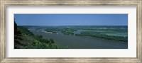 Framed River flowing through a landscape, Mississippi River, Marquette, Prairie Du Chien, Wisconsin-Iowa, USA