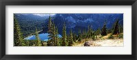 Framed High angle view of a lake, Grinnell Lake, US Glacier National Park, Montana, USA