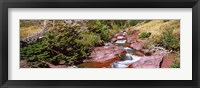 Framed Low angle view of a creek, Baring Creek, US Glacier National Park, Montana, USA