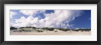 Framed Sand dunes, Cape Hatteras National Seashore, Outer Banks, North Carolina, USA