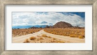 Framed Converging roads, Alabama Hills, Owens Valley, Lone Pine, California, USA