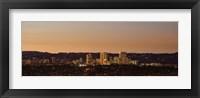 Framed Century City at night, Los Angeles, California