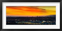 Framed Cityscape at dusk, Sony Studios, Culver City, Santa Monica, Los Angeles County, California, USA