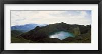 Framed Volcanic lake on a mountain, Mt Kelimutu, Flores Island, Indonesia