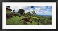 Framed Stone table with seats, Flores Island, Indonesia