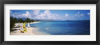 Framed High angle view of the beach, Kailua Beach, Oahu, Hawaii, USA
