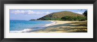 Framed Surf on the beach, Big Beach, Makena, Maui, Hawaii, USA
