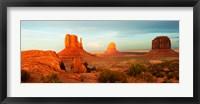 Framed Three Buttes Rock Formations at Monument Valley, Utah-Arizona Border, USA