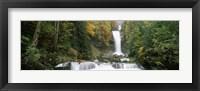 Framed Giessbach Falls on Lake Brienz, Bernese Oberland, Berne Canton, Switzerland