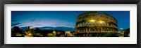 Framed Amphitheater at dusk, Coliseum, Rome, Lazio, Italy