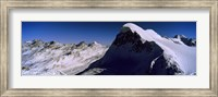 Framed Swiss Alps from Klein Matterhorn, Switzerland