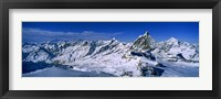 Framed Snow Covered Swiss Alps, Switzerland