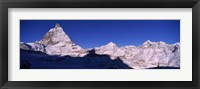 Framed Mt Matterhorn from Riffelberg, Zermatt, Valais Canton, Switzerland