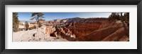 Framed Rock formations at Bryce Canyon National Park, Utah, USA