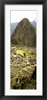 Framed High angle view of an archaeological site, Machu Picchu, Cusco Region, Peru