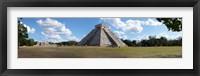 Framed Kukulkan Pyramid, Yucatan, Mexico