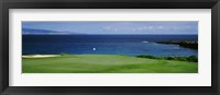 Framed Kapalua Golf Course, Maui, Hawaii