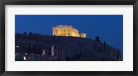 Framed Parthenon at dusk, Athens, Greece