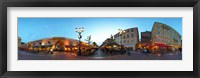 Framed Street with buildings at dusk, Nice, Alpes-Maritimes, Provence-Alpes-Cote d'Azur, France