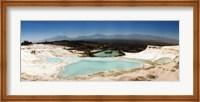 Framed Travetine Pool and Hot Springs, Pamukkale, Denizli Province, Turkey