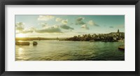 Framed Bosphorus Strait at sunset, Istanbul, Turkey
