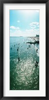Framed Tourists enjoying on the beach at Coney Island, Brooklyn, New York City, New York State, USA