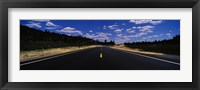 Framed Highway passing through landscape, New Mexico, USA