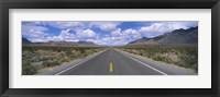 Framed Road passing through a desert, Death Valley, California, USA