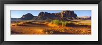 Framed Rock formations in a desert, Jebel Qatar, Wadi Rum, Jordan