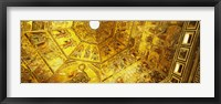 Framed Baptistery mosaic ceiling, Battistero Di San Giovanni, Florence, Tuscany, Italy