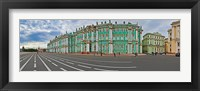 Framed Parade Ground in front of a museum, Winter Palace, State Hermitage Museum, Palace Square, St. Petersburg, Russia