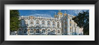 Framed Facade of a palace, Catherine Palace, Tsarskoye Selo, St. Petersburg, Russia