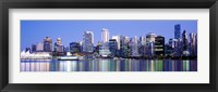 Framed Vancouver skyline, British Columbia, Canada