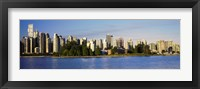 Framed City skyline, Vancouver, British Columbia, Canada