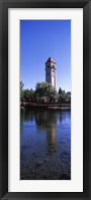 Framed Clock Tower at Riverfront Park, Spokane, Washington State, USA