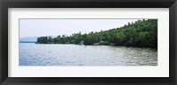 Framed View from a boat, Lake George, New York State, USA