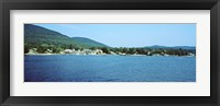 Framed View of a dock, Lake George, New York State, USA