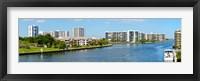 Framed Buildings on Intracoastal Waterway, Hollywood Beach, Hollywood, Florida