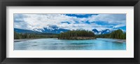 Framed Clouds over mountains, Athabasca River, Icefields Parkway, Jasper National Park, Alberta, Canada