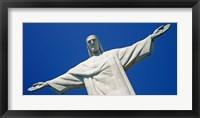 Framed Low angle view of the Christ The Redeemer, Corcovado, Rio De Janeiro, Brazil
