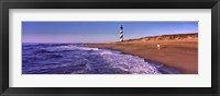 Framed Lighthouse on the beach, Cape Hatteras, North Carolina, USA