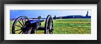 Framed Cannon at Manassas National Battlefield Park, Manassas, Prince William County, Virginia, USA