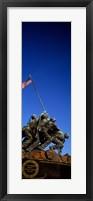 Framed Iwo Jima Memorial at Arlington National Cemetery, Arlington, Virginia, USA