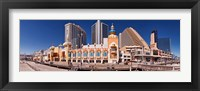 Framed Trump's Taj Mahal Casino along the Boardwalk, Atlantic City, New Jersey, USA